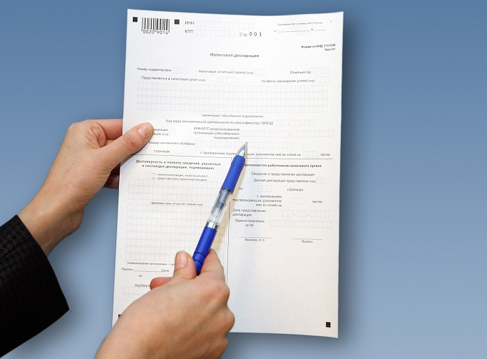 Структура декларации по земельному налогу