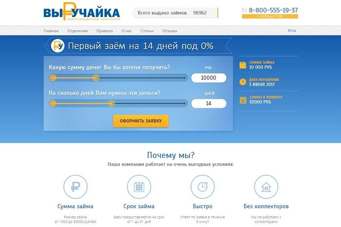 Займы онлайн - «Выручайка» для всех